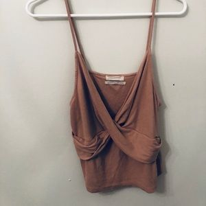 Urban Outfitters light pink tank top crop top